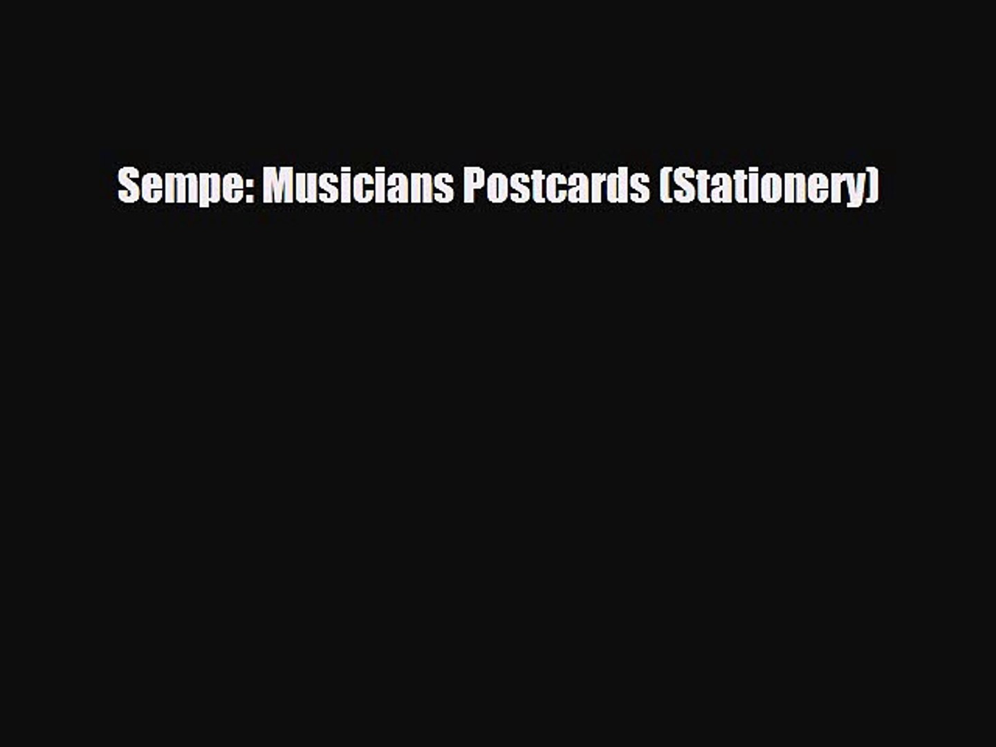 Read Books Sempe: Musicians Postcards (Stationery) ebook textbooks