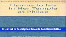 Download Hymns to Isis in Her Temple at Philae  Ebook Free