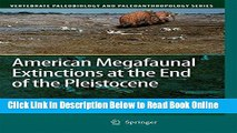 Download American Megafaunal Extinctions at the End of the Pleistocene (Vertebrate Paleobiology