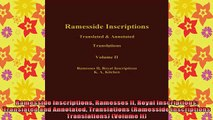 DOWNLOAD FREE Ebooks  Ramesside Inscriptions Ramesses II Royal Inscriptions Translated and Annotated Full Ebook Online Free