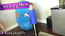 World's Biggest COOKIE MONSTER Surprise Egg! Sesame Street Toys HobbyKidsTV_1