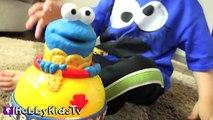 World's Biggest COOKIE MONSTER Surprise Egg! Sesame Street Toys HobbyKidsTV_7
