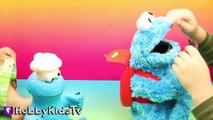 World's Biggest COOKIE MONSTER Surprise Egg! Sesame Street Toys HobbyKidsTV_9