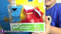 World's Biggest COOKIE MONSTER Surprise Egg! Sesame Street Toys HobbyKidsTV_10