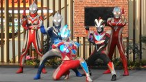 【Photo session】Ultraman 5 large Hero show Ultraman ginga S/Victory/MAX/Nexus/Cosmos appeared!