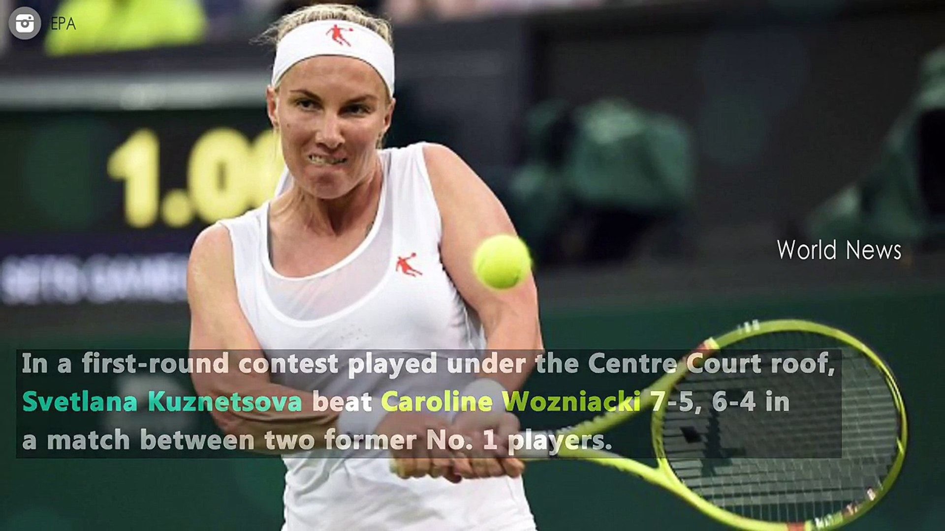 Svetlana Kuznetsova beats Caroline Wozniacki at Wimbledon