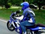 Street bikes stunt