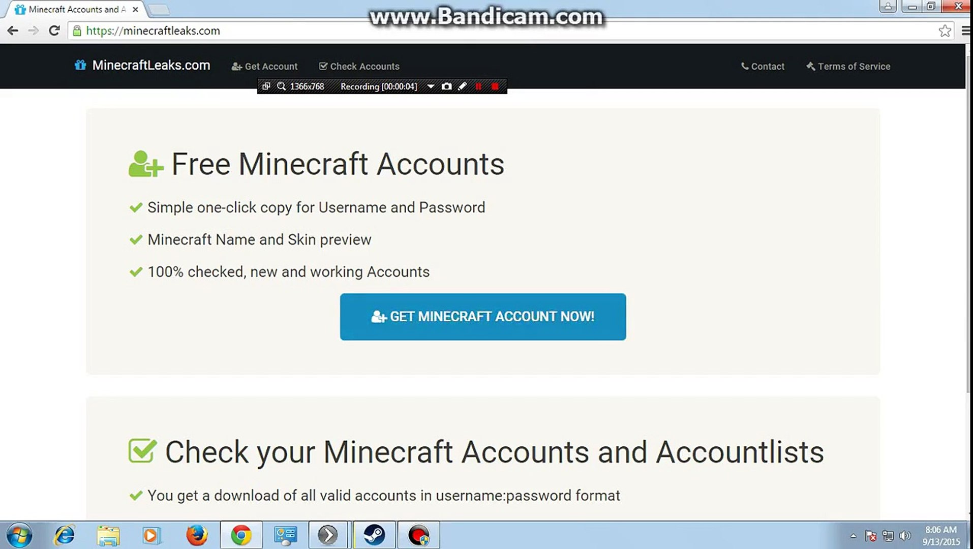 Minecraft Free Accounts On Web! 20 Subs Special!