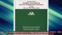 FREE DOWNLOAD  JUDITHA TRIUMPHANS DEVICTA   HOLOFERNIS BARBARIE RV644    CRIT EDITION VOCAL SCORE  DOWNLOAD ONLINE