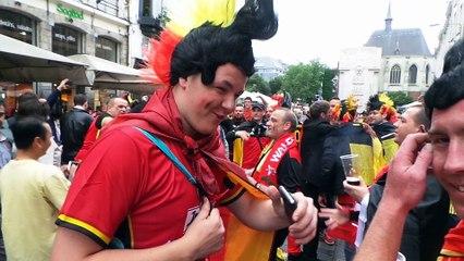 Euro à Lille : les supporters belges commencent la fête