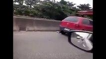 Coups de feu entendus sur l'autoroute au Brésil...Bientôt les JO !