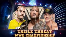 WWE Wrestlemania 29 :Cm Punk Vs John Cena Vs The Rock (c) Triple Threat WWE Championship Match  (HD)