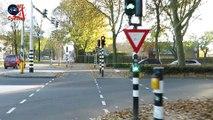 Aux pays-bas la circulation est faite en faveur des vélos avant les voitures !