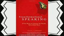 different   Transformational Speaking