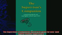 behold  The Supervisors Companion A practical guide for new  and lightly trained supervisors