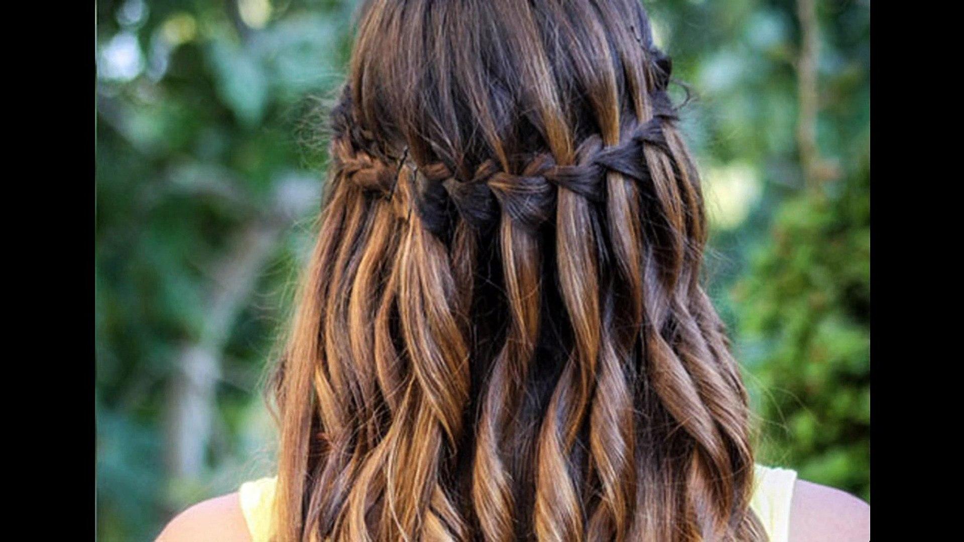Peinados de trenzas cascadas paso a paso
