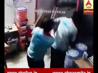 CCTV OF Attack On Ahmedabad Petrol pump
