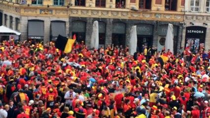 Euro 2016 : les supporters belges sur la Grand Place