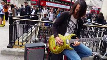Miguel Montalban - Sultans of Swing - Awesome busker @ Oxford Circus Tube Station, London 30/06/16