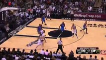 Tim Duncan HUGE DUNK Over Serge Ibaka (Thunder - 5/29/12)