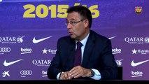 """Bartomeu - """"El Barça ha llegado a un acuerdo con el Lyon por Umtiti"""""""