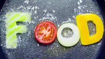 In A Frying Pan In Boiling Oil Fried Food Word - Stock Footage | VideoHive 15645285