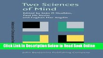Read Two Sciences of Mind: Readings in cognitive science and consciousness (Advances in