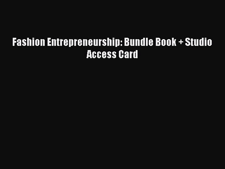 Fashion Entrepreneurship Studio Access Card Bundle Book