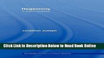 Read Hegemony: A Realist Analysis (Routledge Studies in Critical Realism)  PDF Online