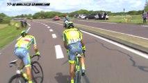 78 KM restants - Chute de Contador - Étape 1 (Mont-Saint-Michel / Utah Beach) - Tour de France 2016