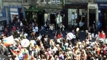 Edinburgh parade down the royal mile July 2,  2016