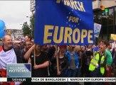 Miles de británicos se manifiestan contra el Brexit en Londres