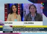Camiones de Colombia exigen al gobierno de Santos mejoras laborales
