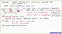 Applying the Navier-Stokes Equations, part 2 - Lecture 4.7 - Chemical Engineering Fluid Mechanics