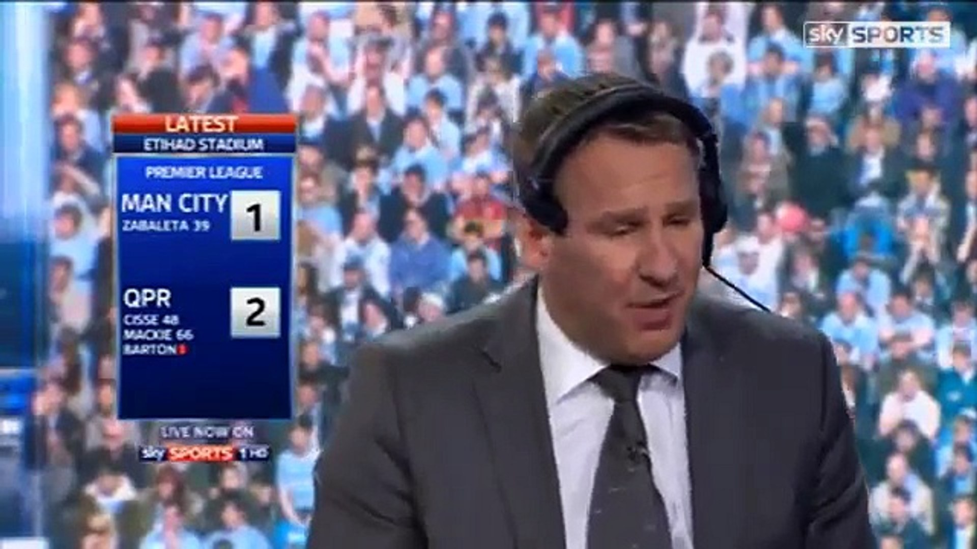 Manchester City vs QPR 3-2 Paul Merson Reaction On Sky Sports News