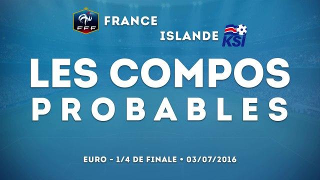 France-Islande : les compos probables
