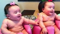 Crazy Twin babies Laughing, Crying, and then Laughing again