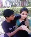 Very Cute Little Girl Kissing With Boy Friend In Park - LEAKED MMS
