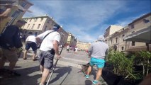 Euro 2016 GoPRO Russian top lads fight England hooligan at marseille full