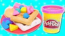Play Doh Sparkle Breakfast Food _ How To Make Fun Playdough Sparkle Breakfast Food with DCTC