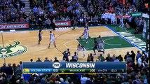 Final seconds of Golden State's 24 game win streak - Milwaukee Bucks beat the Warriors!