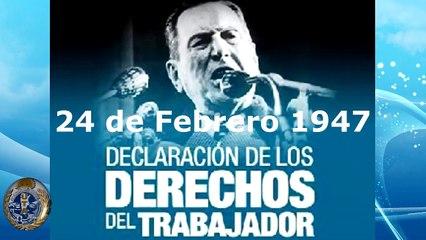 24 de Febrero Perón proclama los Derechos del Trabajador