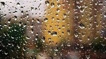 Regen auf dem Fensterbrett klingt für Entspannung, Meditation, beruhigende, Schlaf