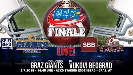 CEFL Finale 2016: Graz Giants vs. SBB Vukovi Beograd