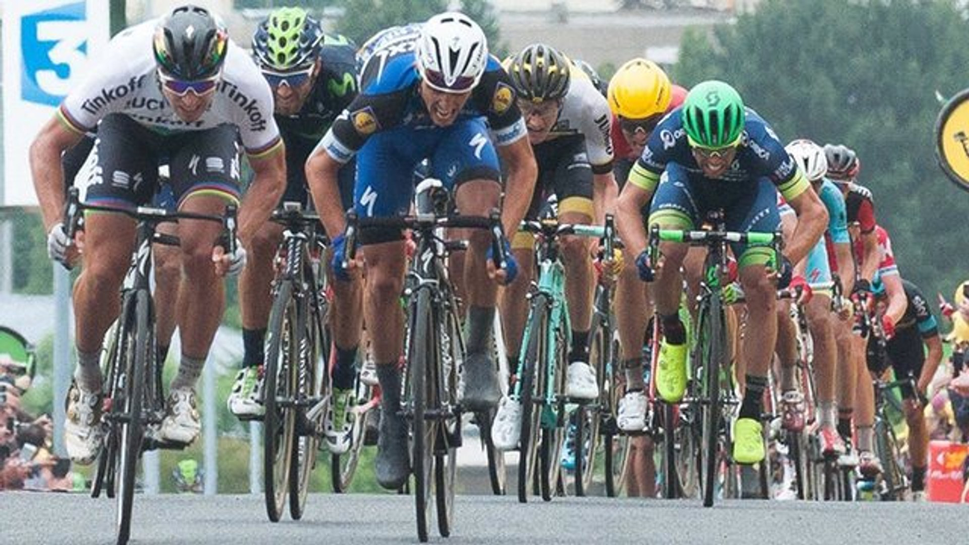 Tour de France 2016 day two: Peter Sagan takes yellow jersey – video highlights