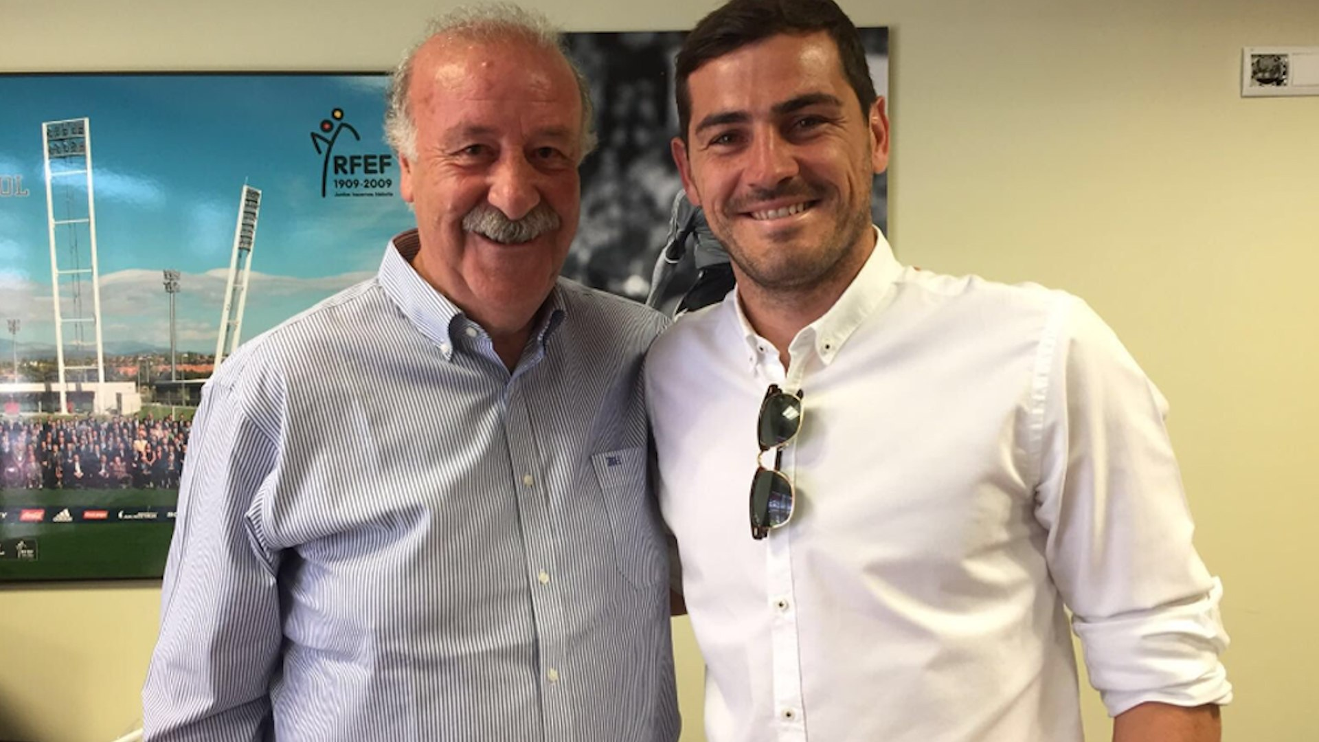 Casillas se reconcilia con Del Bosque