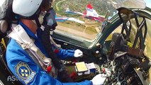 GoPro2 mounted the tail of the MiG 29 and Su 27 cockpit - video