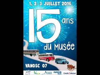 Moteurs-fixes pour les 15 ans du musée du car de Vanosc