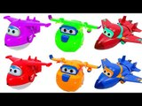 Learn Colors Super Wings, RoboCar poli, Little bus Tayo Toys English For Kids HD 10 minutes