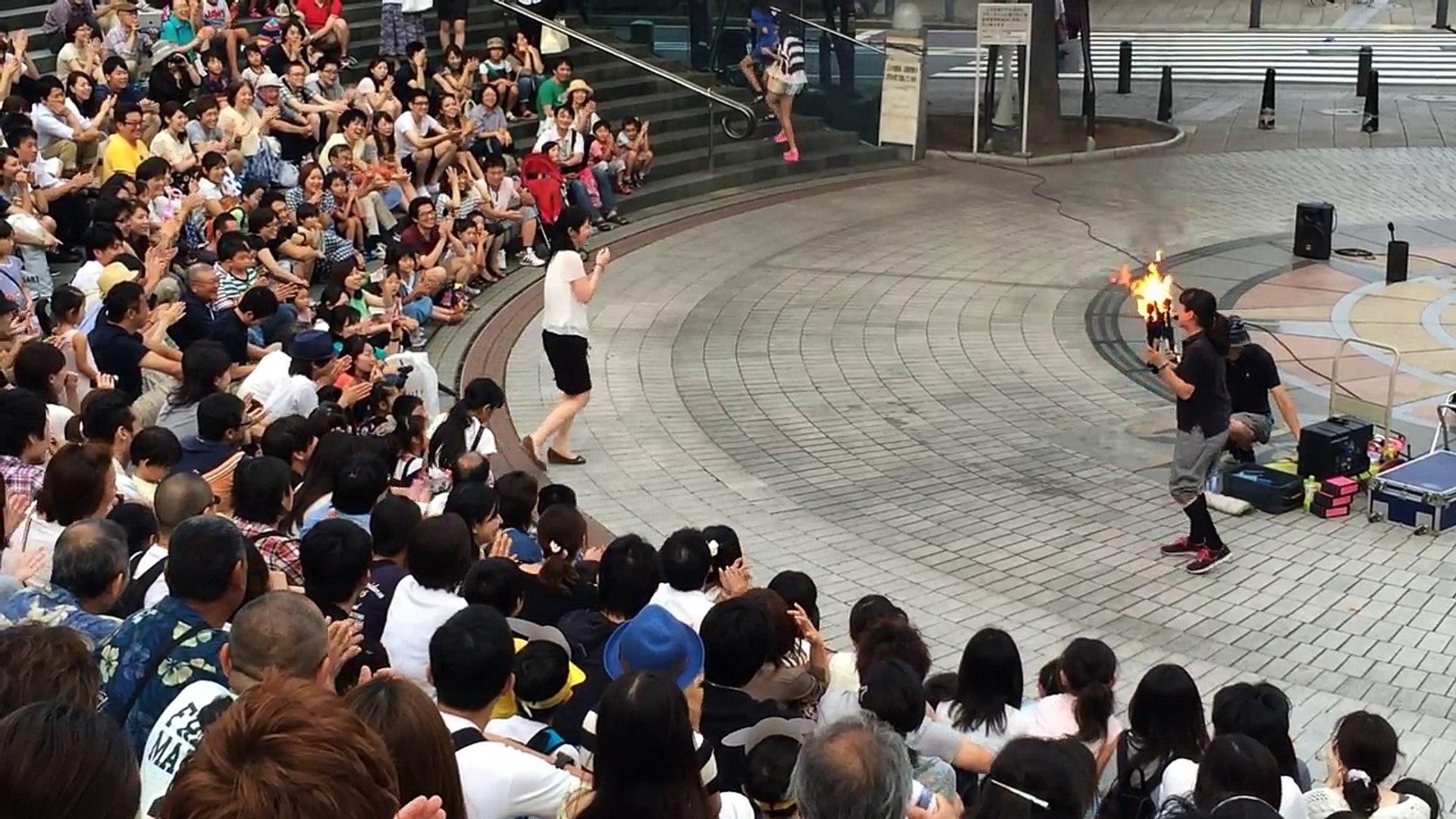 サプライズプロポーズ【横浜大道芸 川原彰&奥田優子】 2014.7.20